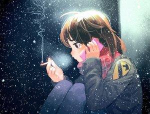 Rating: Safe Score: 12 Tags: brown_eyes brown_hair cigarette original phone scarf short_hair smoking snow thomas_hewitt User: C4R10Z123GT