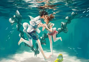 Rating: Safe Score: 101 Tags: barefoot haku ogino_chihiro spirited_away underwater User: w7382001