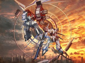 Rating: Safe Score: 49 Tags: alteisen alteisen_nacht city gun intuos9 mecha sunset super_robot_wars weapon weissritter weissritter_abend User: 02