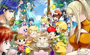 Rating: Safe Score: 32 Tags: cake chimecho dark_pit doubutsu_no_mori fire_emblem food greninja group ike_(fire_emblem) jigglypuff kid_icarus kirby kirby_(character) link_(zelda) lucas luma male mario marth_(fire_emblem) metroid mother ness pikachu pikmin pikmin_(creature) pokemon princess_peach princess_zelda rosalina roy_(fire_emblem) samus_aran sonic sonic_the_hedgehog super_mario_bros super_smash_bros. the_legend_of_zelda toon_link villager_(doubutsu_no_mori) yoshi yuino_(fancy_party) User: otaku_emmy