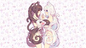 Rating: Safe Score: 131 Tags: 2girls animal_ears catgirl chocola_(sayori) heart long_hair nekopara nude photoshop sayori tail vanilla_(sayori) User: Dummy