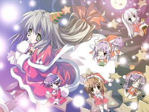 Rating: Safe Score: 34 Tags: chibi christmas clannad fujibayashi_kyou fujibayashi_ryou furukawa_nagisa ibuki_fuuko ichinose_kotomi sakagami_tomoyo santa_costume twins User: Oyashiro-sama