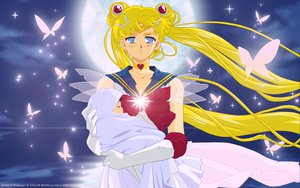 Rating: Safe Score: 39 Tags: blonde_hair blue_eyes butterfly collar gloves moon night sailor_moon sailor_moon_(character) tsukino_usagi twintails uniform wings User: gnarf1975