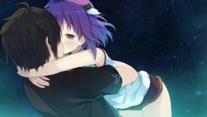 Rating: Safe Score: 42 Tags: akinashi_yuu ao_no_kanata_no_four_rhythm black_hair blue_eyes blush game_cg hinata_masaya hug ichinose_rika kiss night purple_hair short_hair shorts stars User: Jodavi