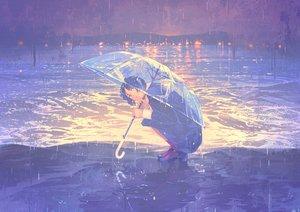 Rating: Safe Score: 66 Tags: blue_eyes blue_hair gemi original school_uniform short_hair skirt umbrella water User: RyuZU