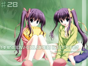 Rating: Safe Score: 2 Tags: nanao_naru rainbow_colored_icecream twins User: Oyashiro-sama