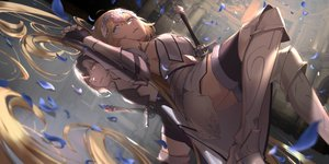 Rating: Safe Score: 143 Tags: armor blonde_hair fate/grand_order fate_(series) jeanne_d'arc_alter jeanne_d'arc_(fate) long_hair oekaki_taro reflection sword weapon white_hair User: BattlequeenYume