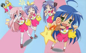 Rating: Safe Score: 3 Tags: blue_hair cheerleader glasses hiiragi_kagami hiiragi_tsukasa izumi_konata kuroi_nanako lucky_star narumi_yui pink_hair takara_miyuki takemoto_yasuhiro User: Oyashiro-sama