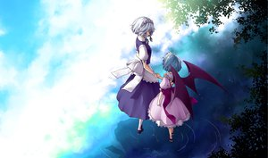 Rating: Safe Score: 34 Tags: 2girls izayoi_sakuya maid remilia_scarlet sakuraba_yuuki touhou vampire wings User: HawthorneKitty