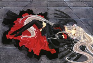 Rating: Safe Score: 79 Tags: chobits clamp dress freya scan thighhighs User: Xtea