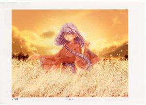 Rating: Safe Score: 13 Tags: air japanese_clothes long_hair purple_hair sky uraha User: Oyashiro-sama