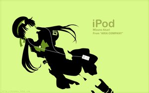 Rating: Safe Score: 9 Tags: aria green ipod mizunashi_akari User: Makinosunohi