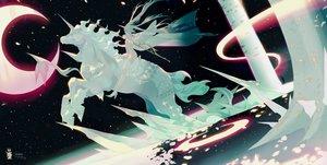Rating: Questionable Score: 44 Tags: animal hatsune_miku horse ryuutsuki_basetsu unicorn vocaloid User: FormX