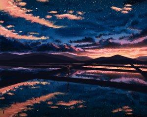 Rating: Safe Score: 101 Tags: clouds natsu3390 original scenic sky sunset water User: mattiasc02