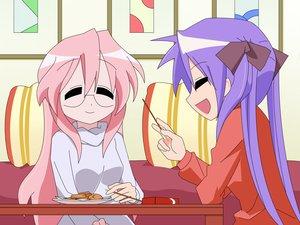 Rating: Safe Score: 12 Tags: food hiiragi_kagami lucky_star pocky takara_miyuki User: SciFi