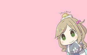 Rating: Safe Score: 25 Tags: chibi food green_eyes inishie inuyama_aoi pink scarf yuru_camp User: RyuZU