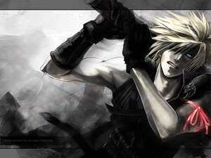 Rating: Safe Score: 106 Tags: blonde_hair blue_eyes cloud_strife final_fantasy final_fantasy_vii final_fantasy_vii_advent_children gloves ribbons short_hair sword weapon User: HawthorneKitty