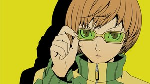 Rating: Safe Score: 5 Tags: brown_eyes brown_hair close glasses persona persona_4 satonaka_chie short_hair vector User: RyuZU