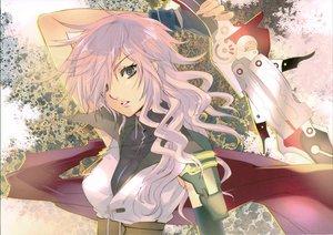 Rating: Safe Score: 100 Tags: final_fantasy final_fantasy_xiii fujitsubo-machine itou_noiji lightning_farron scan sword weapon User: Maho