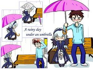 Rating: Safe Score: 15 Tags: rain rozen_maiden sakurada_jun suigintou umbrella water User: Oyashiro-sama