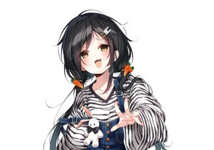 Rating: Safe Score: 55 Tags: black_hair blush bunny cat_smile fang inhoya2000 loli original twintails white yellow_eyes User: otaku_emmy