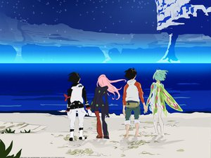 Rating: Safe Score: 8 Tags: anemone dominic_sorel eureka eureka_seven renton_thurston wings User: Oyashiro-sama