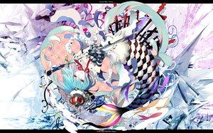 Rating: Safe Score: 108 Tags: animal blue_eyes blue_hair choker fish gin_(oyoyo) mahou_shoujo_madoka_magica mermaid miki_sayaka necklace sword tears weapon User: opai