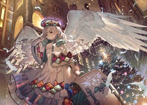 Rating: Safe Score: 41 Tags: braids building christmas dress feathers gray_eyes gray_hair long_hair original signed tree umiu_geso wings User: BattlequeenYume