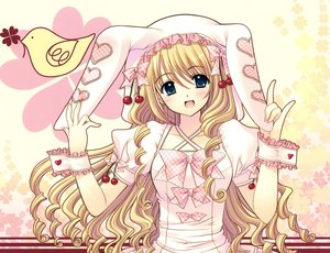 Rating: Safe Score: 40 Tags: blonde_hair fang long_hair nishimata_aoi original User: Wiresetc