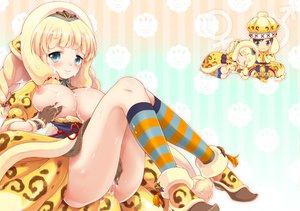 Rating: Explicit Score: 128 Tags: blonde_hair breasts miyano_ururu nipples nopan pussy_juice tagme User: opai