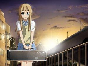Rating: Safe Score: 18 Tags: aliasing blonde_hair blue_eyes clouds k-on! kotobuki_tsumugi long_hair school_uniform shane_owen_(artist) signed skirt sky sunset User: gnarf1975