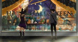 Rating: Safe Score: 27 Tags: black_hair boots brown_hair dress halloween hat long_hair male original pumpkin short_hair somehira_katsu teddy_bear twintails witch_hat wristwear User: RyuZU