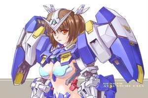 Rating: Safe Score: 52 Tags: armor brown_eyes brown_hair cleavage mecha mechagirl mobile_suit_gundam mobile_suit_gundam_00 mori_chu nopan short_hair signed User: HawthorneKitty