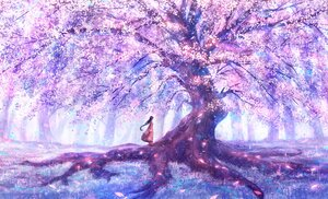 Rating: Safe Score: 44 Tags: black_hair bou_nin cherry_blossoms flowers long_hair original polychromatic scenic tree User: mattiasc02