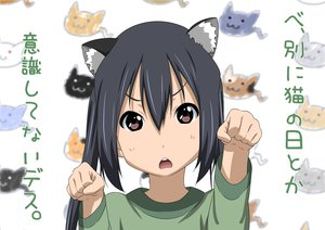 Rating: Questionable Score: 34 Tags: animal_ears k-on! nakano_azusa oku_no_shi User: gnarf1975