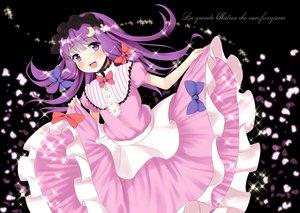 Rating: Safe Score: 76 Tags: bow dress patchouli_knowledge petals pokachu purple_eyes purple_hair touhou User: opai