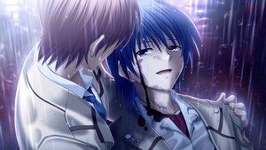 Rating: Safe Score: 24 Tags: all_male angel_beats! game_cg hinata_hideki key male na-ga otonashi_yuzuru rain water User: Tensa
