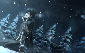 Rating: Safe Score: 279 Tags: all_male gloves kirigaya_kazuto male night sky snow sword_art_online tree winter yuuki_tatsuya User: Flandre93