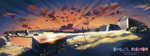Rating: Safe Score: 68 Tags: building clouds dualscreen kumo_no_mukou_yakusoku_no_basho landscape nobody scenic sky sunset water User: 秀悟