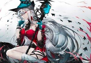 Rating: Safe Score: 60 Tags: arknights gloves gray_hair long_hair qiandaiyiyu red_eyes skadi_(arknights) User: BattlequeenYume