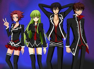 Rating: Safe Score: 33 Tags: blue blue_eyes cc code_geass green_hair kallen_stadtfeld kururugi_suzaku lelouch_lamperouge long_hair red_hair short_hair yellow_eyes User: Tensa