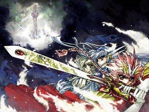 Rating: Safe Score: 5 Tags: clamp hououji_fuu magic_knight_rayearth ryuuzaki_umi shidou_hikaru User: haru3173