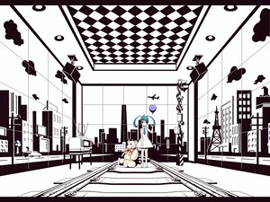 Rating: Safe Score: 49 Tags: hatsune_miku polychromatic torigoe_takumi twintails vocaloid User: HawthorneKitty