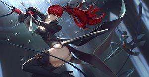 Rating: Safe Score: 34 Tags: amamiya_ren ass gloves long_hair male persona persona_5 ponytail red_hair thighhighs vafar7 yoshizawa_kasumi User: BattlequeenYume