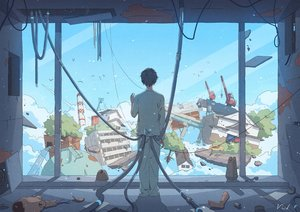 Rating: Safe Score: 48 Tags: all_male bibido building car clouds doll lighthouse male original ruins short_hair signed sky tree User: otaku_emmy