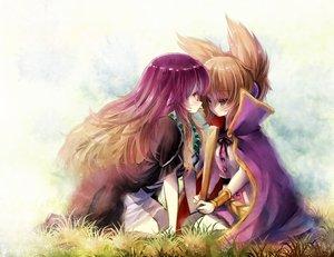 Rating: Safe Score: 145 Tags: 2girls blonde_hair hijiri_byakuren piyokichi purple_hair touhou toyosatomimi_no_miko User: Shupa