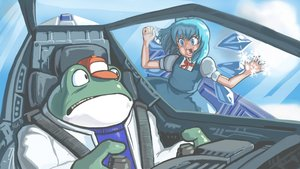 Rating: Safe Score: 59 Tags: animal cirno crossover fairy frog profitshame slippy star_fox touhou User: noRain_noRainbow