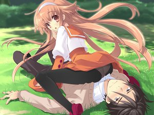 Rating: Questionable Score: 39 Tags: alice_parade brown_eyes brown_hair futarimeno_alice game_cg hitorimeno_alice long_hair male pantyhose unisonshift User: 秀悟