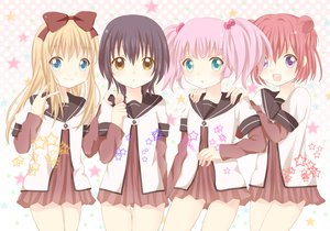 Rating: Safe Score: 58 Tags: akaza_akari aqua_eyes blonde_hair blue_eyes bow brown_eyes funami_yui long_hair pink_hair purple_eyes purple_hair red_hair school_uniform short_hair toshinou_kyouko twintails yoshikawa_chinatsu yuru_yuri User: Charly