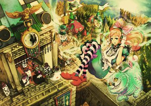 Rating: Safe Score: 98 Tags: alice_in_wonderland chesire_cat queen_of_hearts white_rabbit wyx2 User: gnarf1975